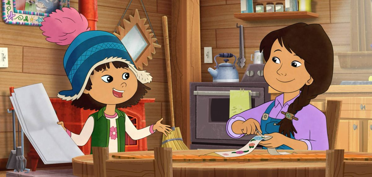 "A still from the upcoming PBS Kids show ""Molly of Denali."" (WGBH Educational Foundation)"