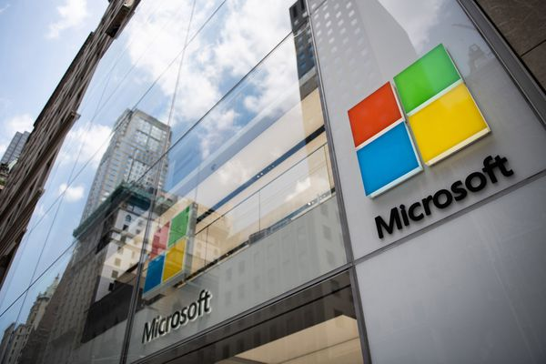 The Microsoft Corp. flagship store in New York on July 14, 2018. MUST CREDIT: Bloomberg photo by Mark Kauzlarich.
