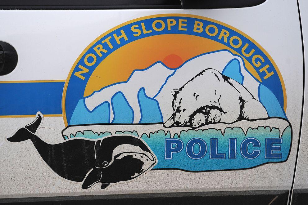 North Slope Borough Police logo photographed on Thursday, September 24, 2015, in Barrow, Alaska.