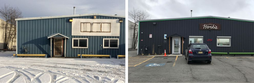 Uncle Herb's in 2016, left, and 2018, right. (Annie Zak / ADN)