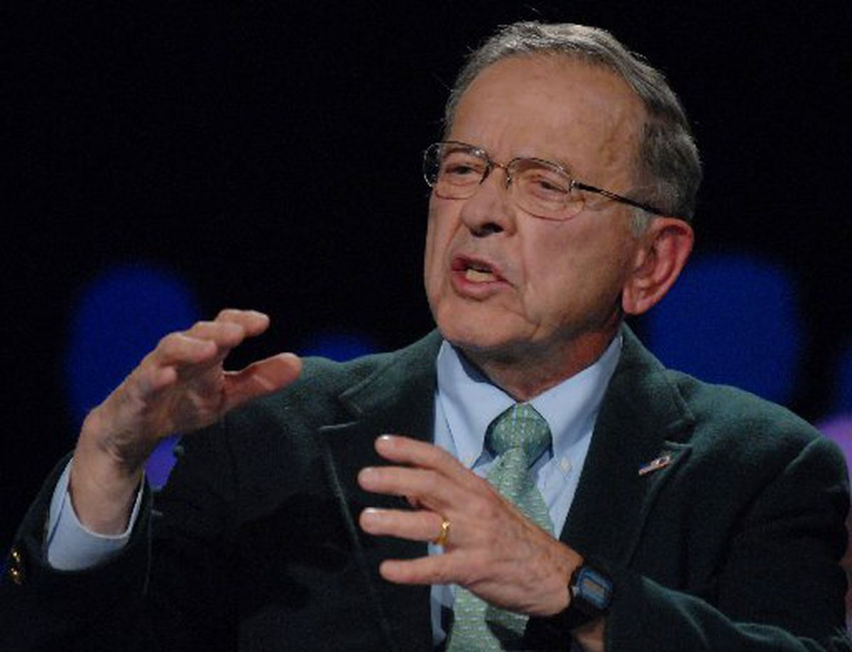 Sen. Ted Stevens during a debate in the 2008 Senate campaign. (Bill Roth / ADN archive 2008)