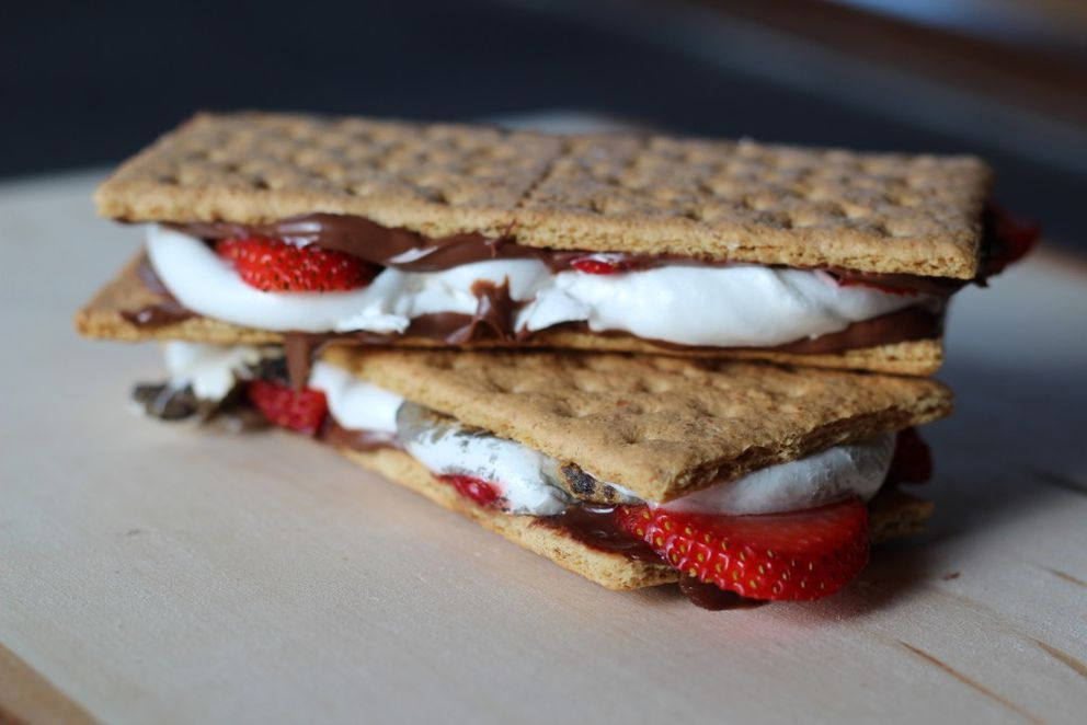 Strawberry Nutella s'mores (Maya Wilson / Alaska from Scratch)