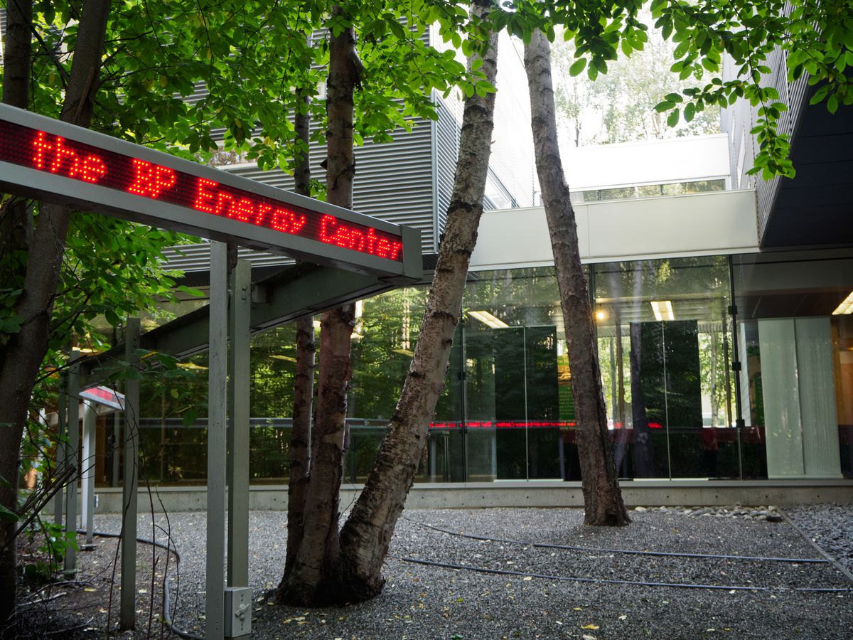 The BP Energy Center meeting space is located just south of company's Anchorage office tower in Midtown. (Marc Lester / ADN)