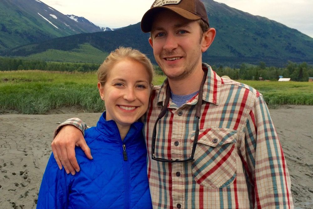 Jenny and Sam Weis in Hope, Alaska. (Courtesy of the family)