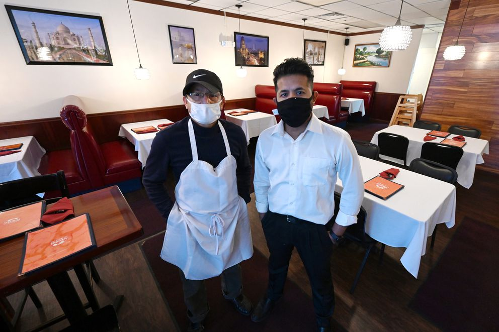 Taste of India co-owners chef Abdul Karim, and manager Rakibul Eshan opened their restaurant on Jan. 8 at 5011 Arctic Blvd Suite I. Photographed on Jan. 14. (Bill Roth / ADN)