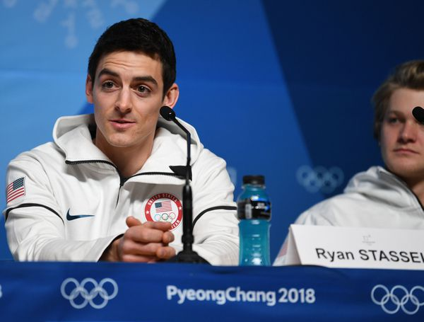 Ryan Stassel speaks during a press conference Feb. 6, in advance of the PyeongChang 2018 Olympic Winter Games.  (Andrew P. Scott / USA TODAY Sports)