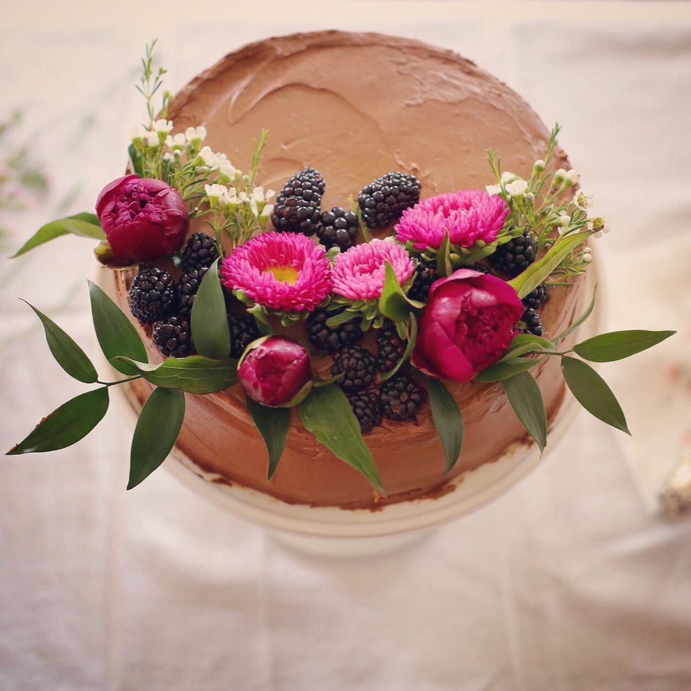 Chocolate fennel cake, one of Rosey Fletcher Grunwaldt's baked creations (Rosey Fletcher Grunwaldt photo)