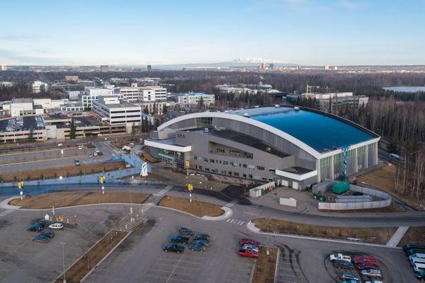 The Alaska Airlines Center at UAA on Thursday, April 19, 2018. (Loren Holmes / ADN)