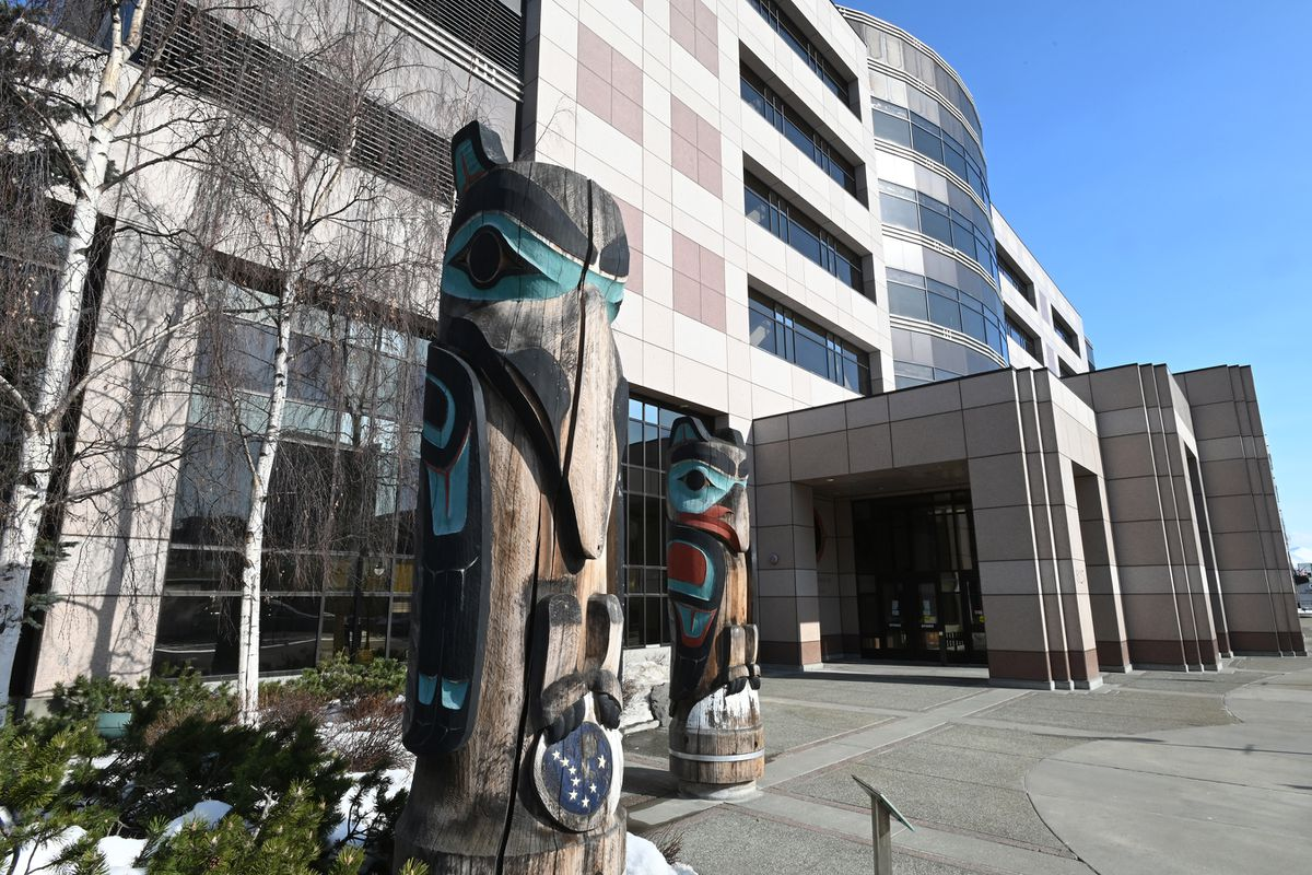 Nesbett Courthouse in downtown Anchorage on Monday, March 23, 2020. (Bill Roth / ADN)