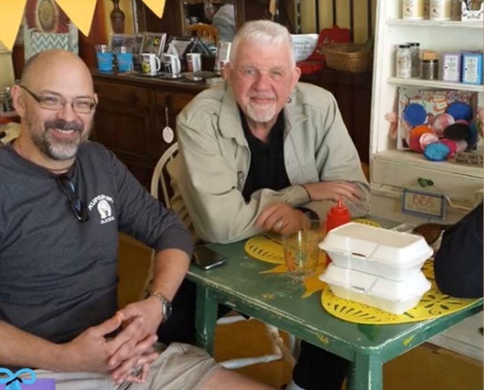 Karl Erickson and Boonie LeBlanc. Karl Erickson was aboard the plane which crashed into Goat Mountain, Aug. 4, 2019. (Photo courtesy of Boonie LeBlanc)