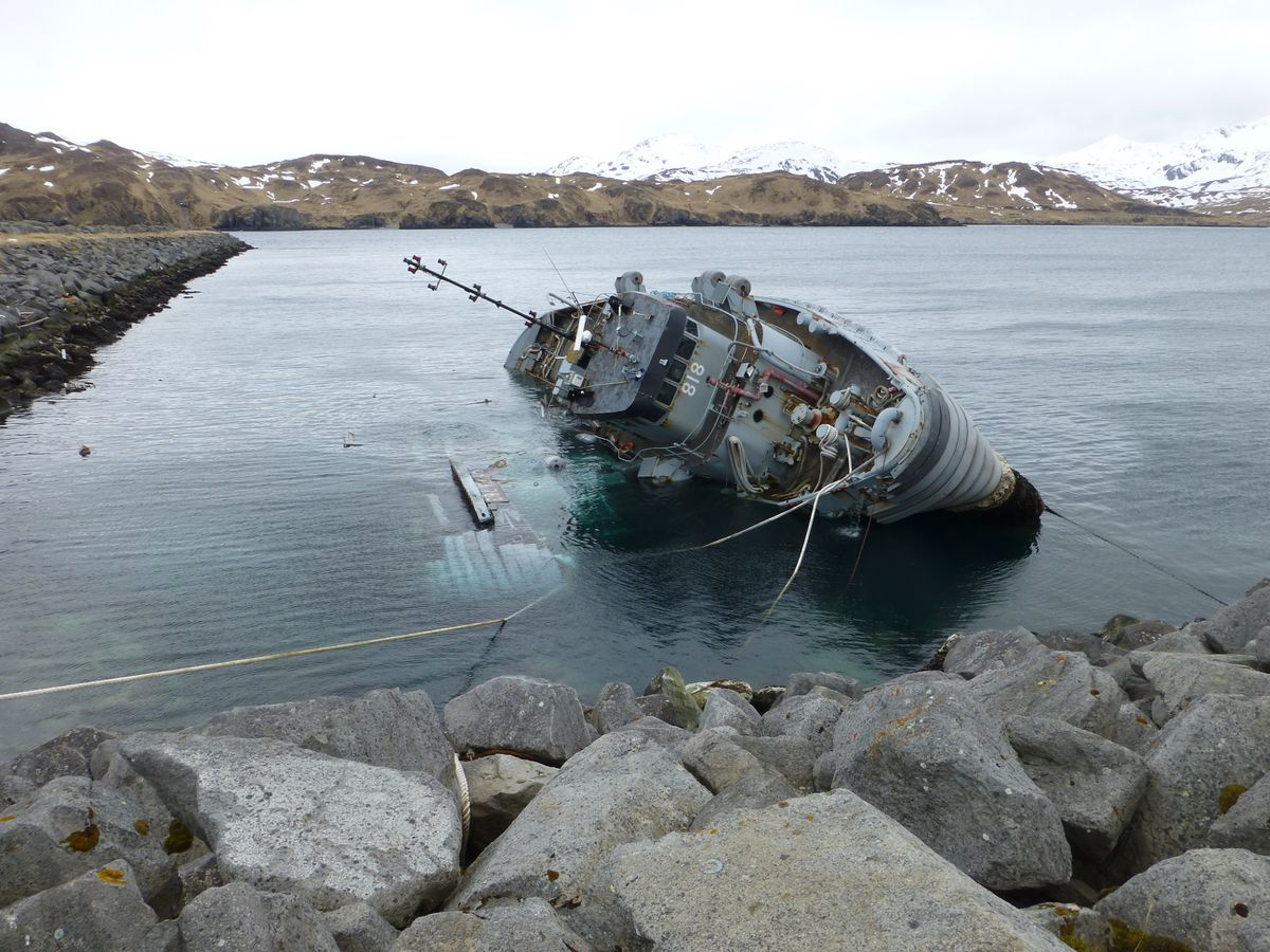 Frustration Lingers Over Two Derelict Tugboats In Adak Alaska