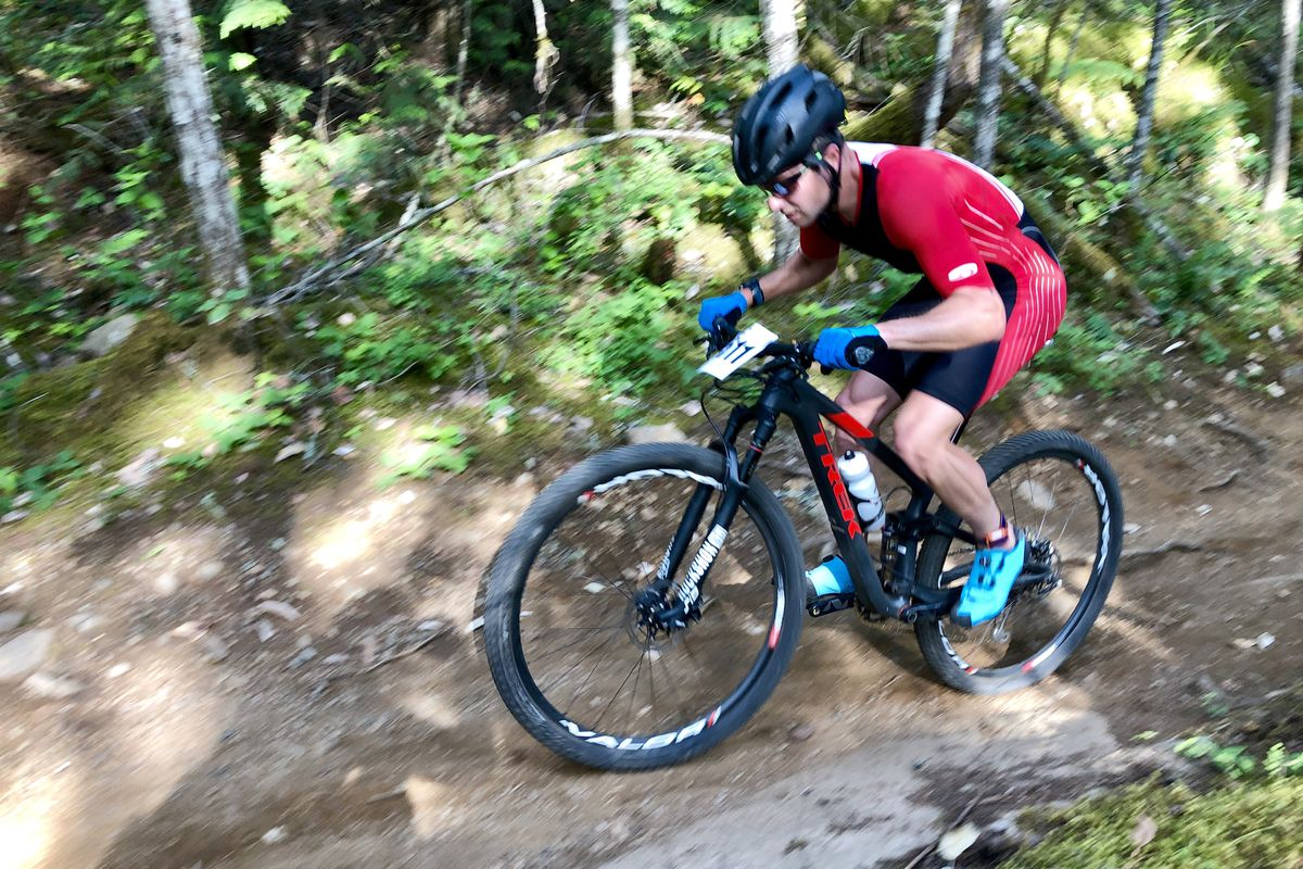 Will Ross of Anchorage rides his bike to fifth place in the XTERRA Victoria race last month in Victoria, British Columbia. (Photo by Allison Ross)