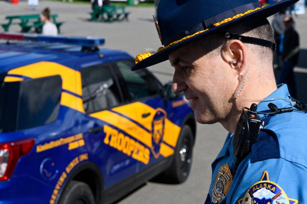 b20f125523e Sgt. David Willson of the Alaska State Trooper recruitment unit said the  vehicles on display