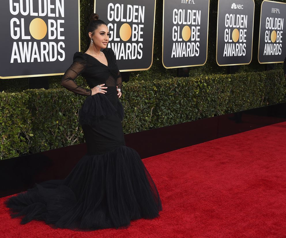 Francia Raisa arrives at the 76th annual Golden Globe Awards at the Beverly Hilton Hotel on Sunday, Jan. 6, 2019, in Beverly Hills, Calif. (Photo by Jordan Strauss/Invision/AP)