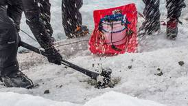 A glacier in Interior Alaska is a testing ground for equipment intended for use in space