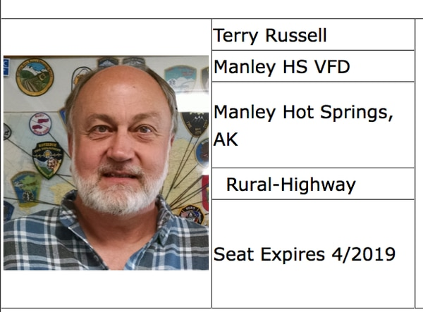 On Thursday, Terry Russell stepped down as the chief of the Manley Hot Springs Volunteer Fire Department and as a board member for the Interior Region EMS Council. (Screenshot Interior Region EMS Council website)