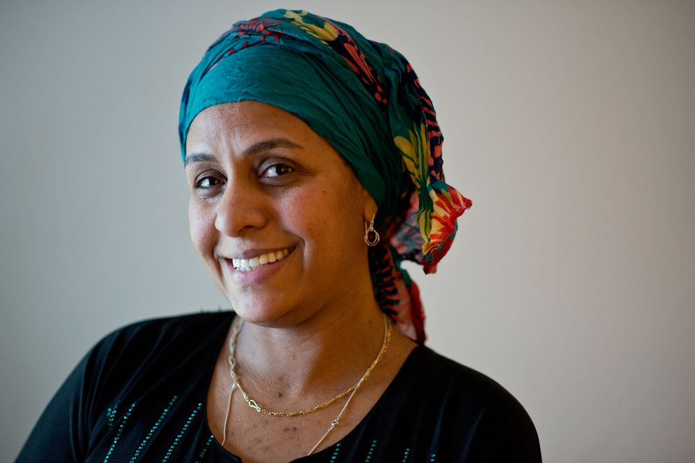 Zabeeba Mohamed, who came to Anchorage nine years ago, is now a U.S. citizen who spends time helping other newcomers navigate life in Alaska. (Marc Lester / Alaska Dispatch News)
