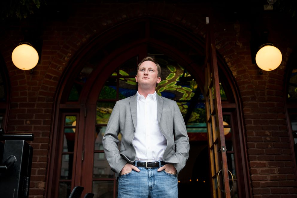 Patrick Whalen outside Tempest in Charleston, S.C. He is owner of the 5th Street Group, a group of restaurants in Charleston and Charlotte. (Cameron Pollack / For The Washington Post)
