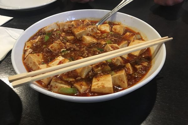 Mapo Tofu at Jimmy's Asian Food restaurant is a chili-oil-laden dish with pork and tofu.