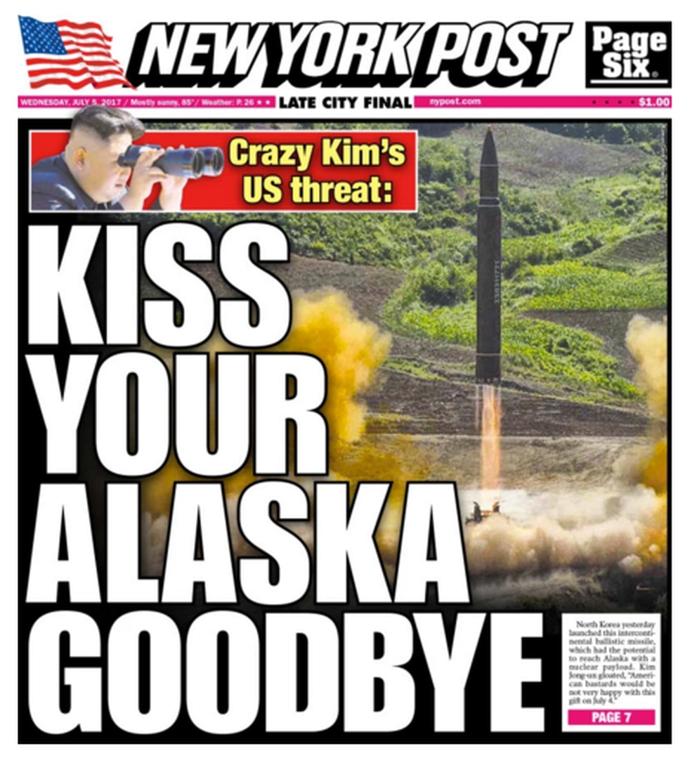 The front page of the New York Post Wednesday overstates the case.