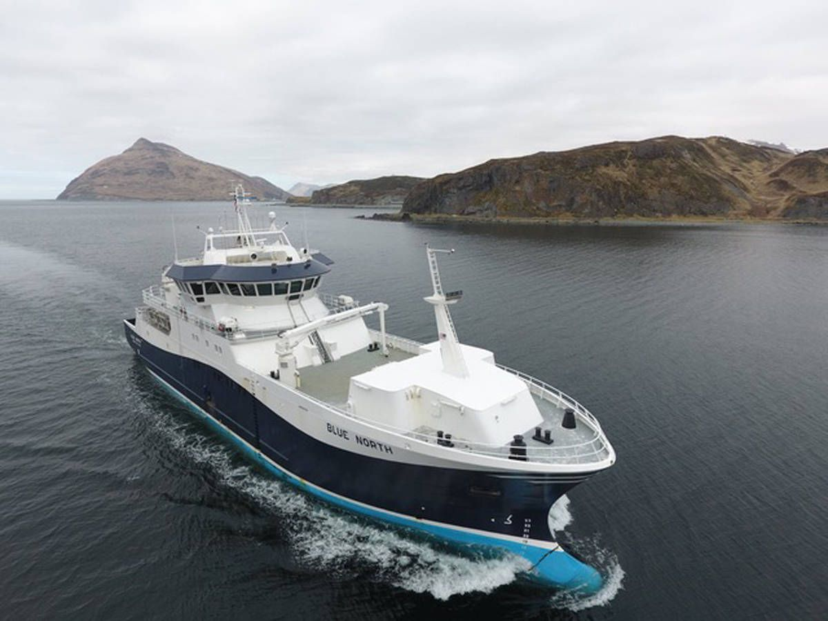 The Blue North, a 5-year-old freezer longliner that targets Pacific cod in the Bering Sea Aleutian Islands fishery, is part of a major deal by Bristol Bay Native Corp. to acquire two companies and their 11 vessels. (Photo courtesy Blue North Fisheries)
