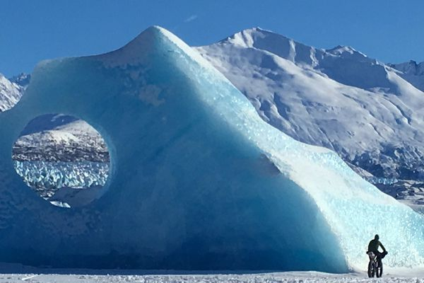 Fat biking to the Knik Glacier is a popular ride. (Photo by Alli Harvey)