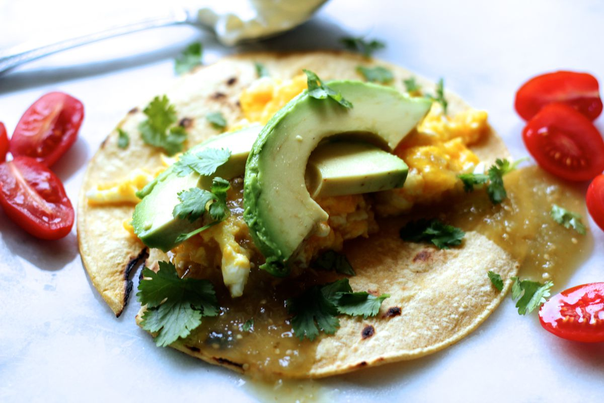Green breakfast tacos (Maya Wilson / Alaska from Scratch)