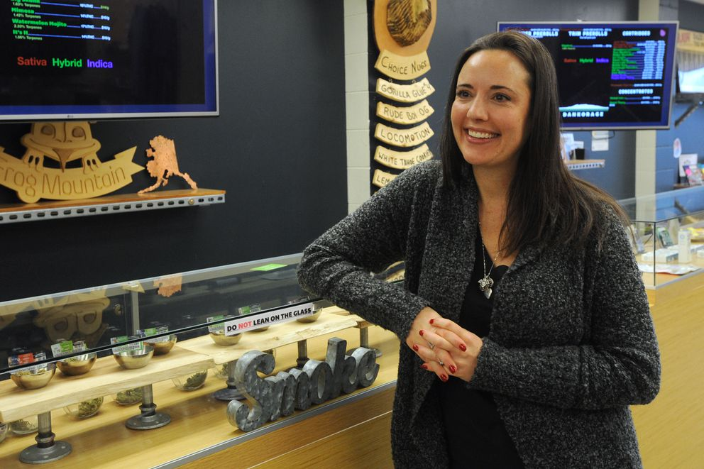 Lily Bosshart is co-owner of the cannabis retail shops Dankorage and The Fairbanks Cut on Tuesday, Nov. 5, 2019. (Bill Roth / ADN)