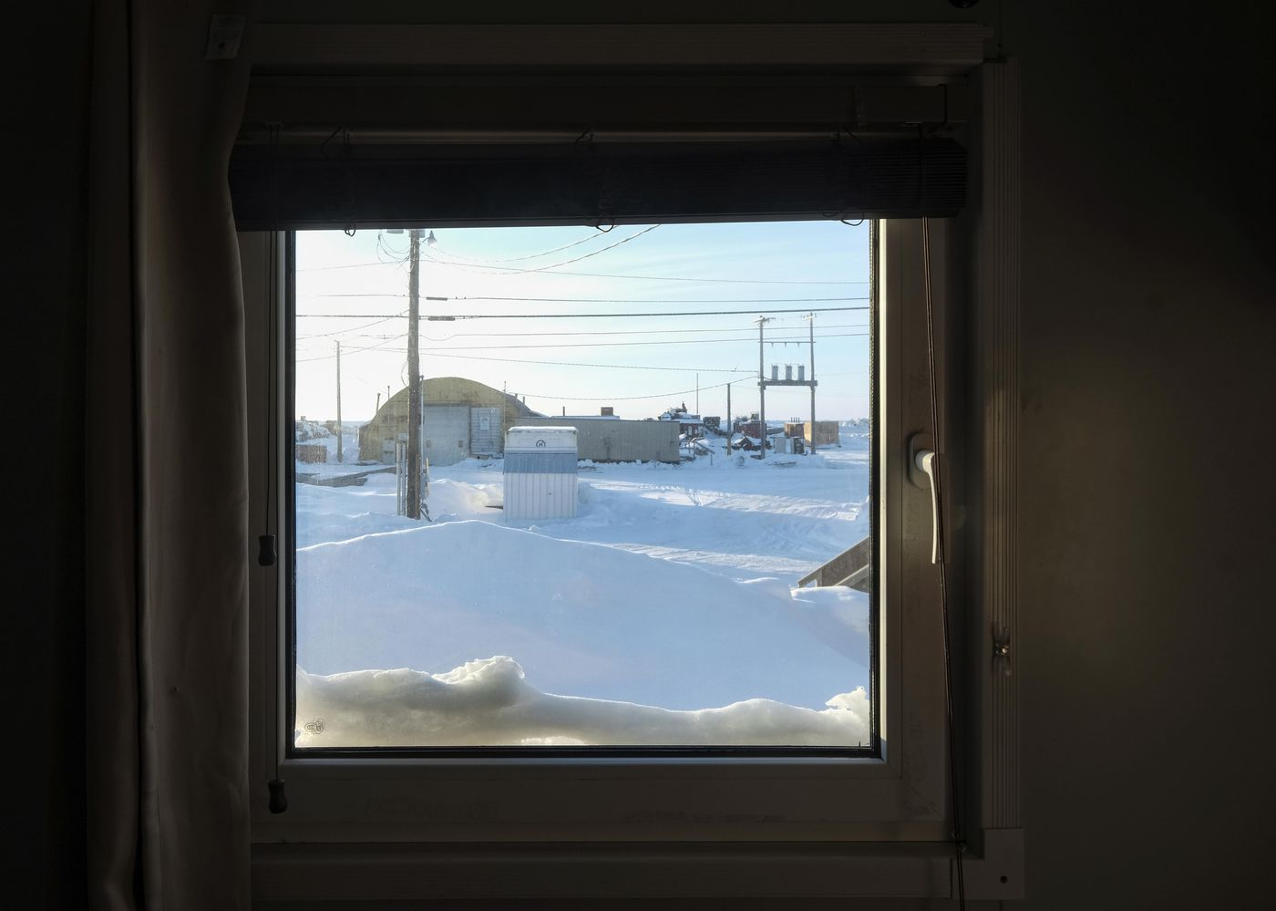 The view from the scientists' dormitory in Utqiagvik. Washington Post photo by Bonnie Jo Mount.