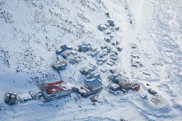 The village of Diomede in March 2012.