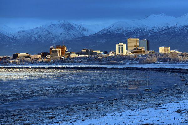 The city of Anchorage on Jan. 14, 2020. (Matt Tunseth / ADN)