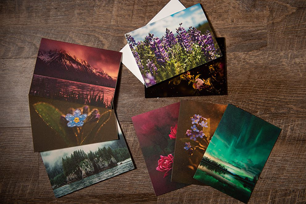 Print cards by Christal Houghtelling. (Photo by Christal Houghtelling)