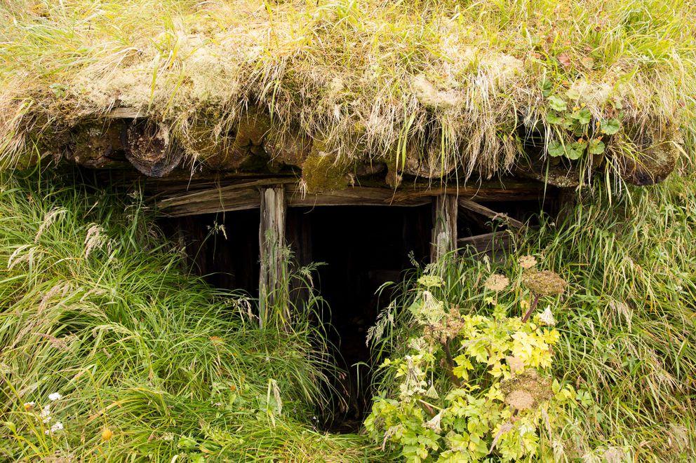 Japanese bunker, Kiska. (Lisa Hupp/USFWS)