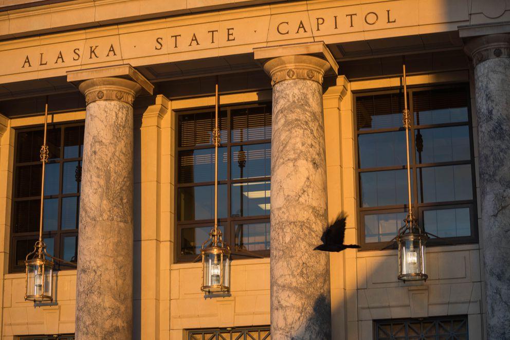 The Alaska State Capitol, photographed on Wednesday, Jan. 16, 2019. (Loren Holmes / ADN)