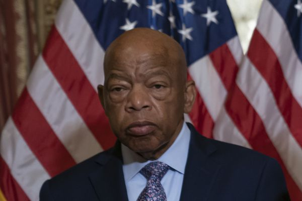 In this June 21, 2019, file photo, Rep. John Lewis, D-Ga., talks before signing the Taxpayer First Act of 2019, at the Capitol in Washington. (AP Photo/J. Scott Applewhite, File)