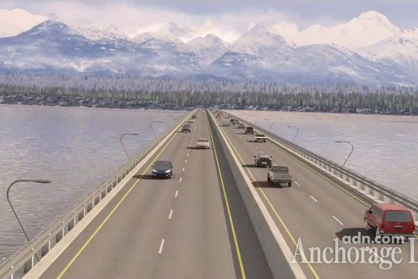 OPINION: Knik Arm Bridge circus shows us why we need better information, an open process and more lawmakers of any party with guts and brains. Pictured: An artist's rendering of the proposed bridge.