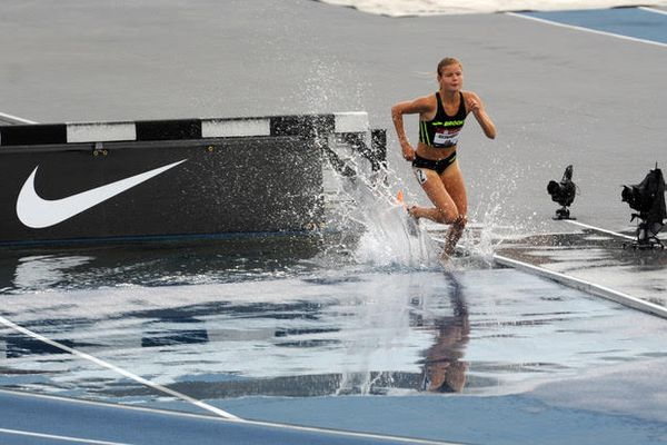 Allie Ostrander runs to a fourth-place finish and qualifies for the World Championships in the 3000-meter steeplechase at the USA Track and Field Championships on Sunday, July 28, 2019 in Des Moines. (Erik Hill)