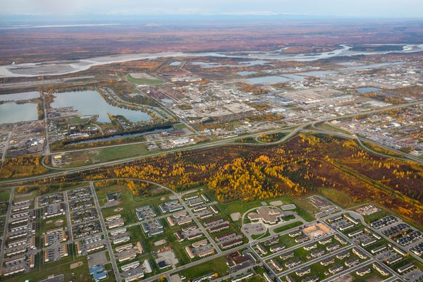 An aerial view of south Fairbanks on September 8, 2015. (ADN )
