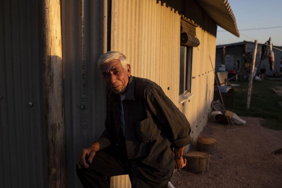 Jose Rocha at his home in La Coronilla, Uruguay. He and his family dig for yellow clams in Barra del Chuy. (Washington Post photo by Carolyn Van Houten)