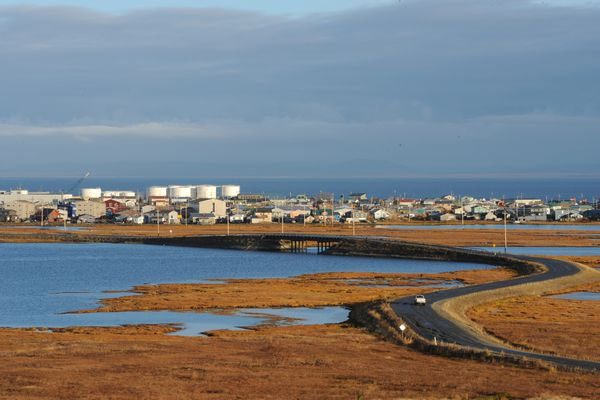 View of Kotzebue from Cemetery Hill on Tuesday morning, Sept. 18, 2018. (Bill Roth / ADN)