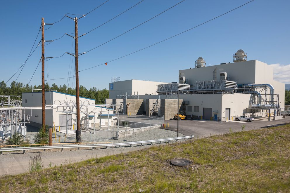The George M. Sullivan Plant 2A electrical generation station Thursday, July 6, 2017. Plant 2A is Municipal Light and Power's newest power plant, and it generates 120 megawatts through the burning of natural gas. (Loren Holmes / Alaska Dispatch News)