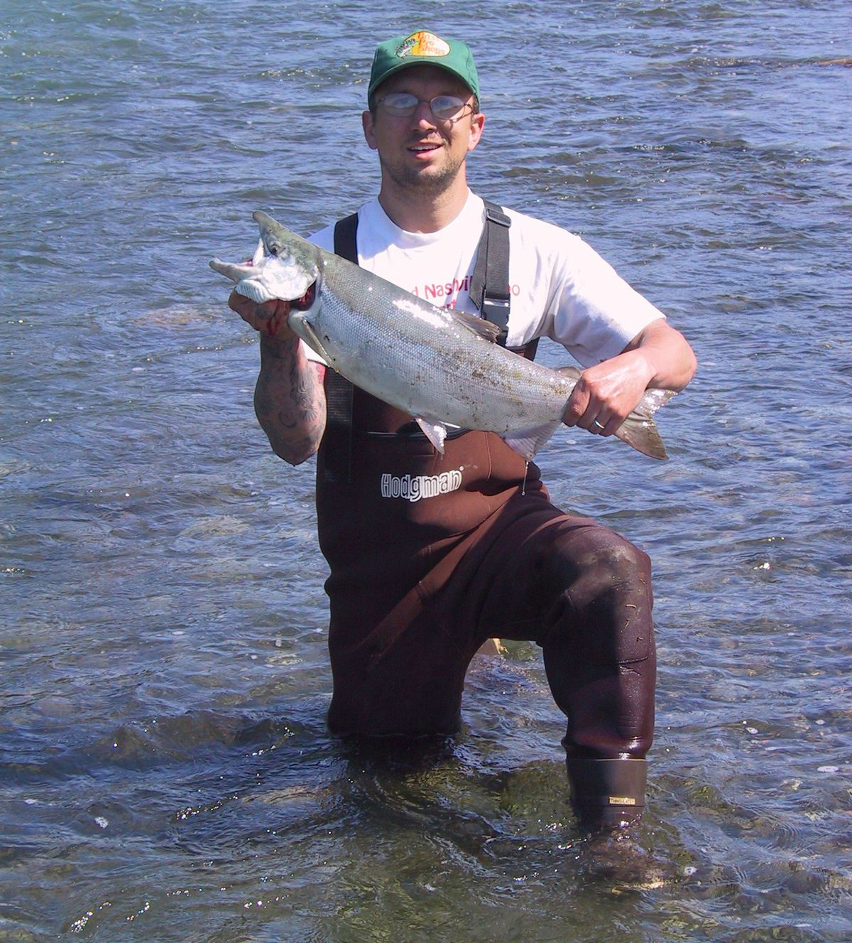 A 20-something Joseph Robertia just after landing an 8-pound red salmon in the Russian River sanctuary about 15 years ago. (Courtesy Joseph Robertia)