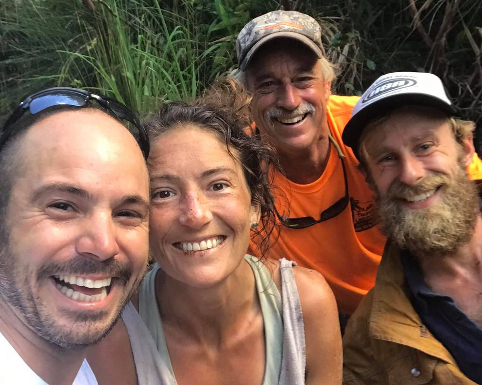 Amanda Eller, who went missing during a a hike more than two weeks ago, was found by a search team in a helicopter Friday afternoon, May 24, 2019, in the Makawao Forest Reserve on Maui. (Javier Cantellops)