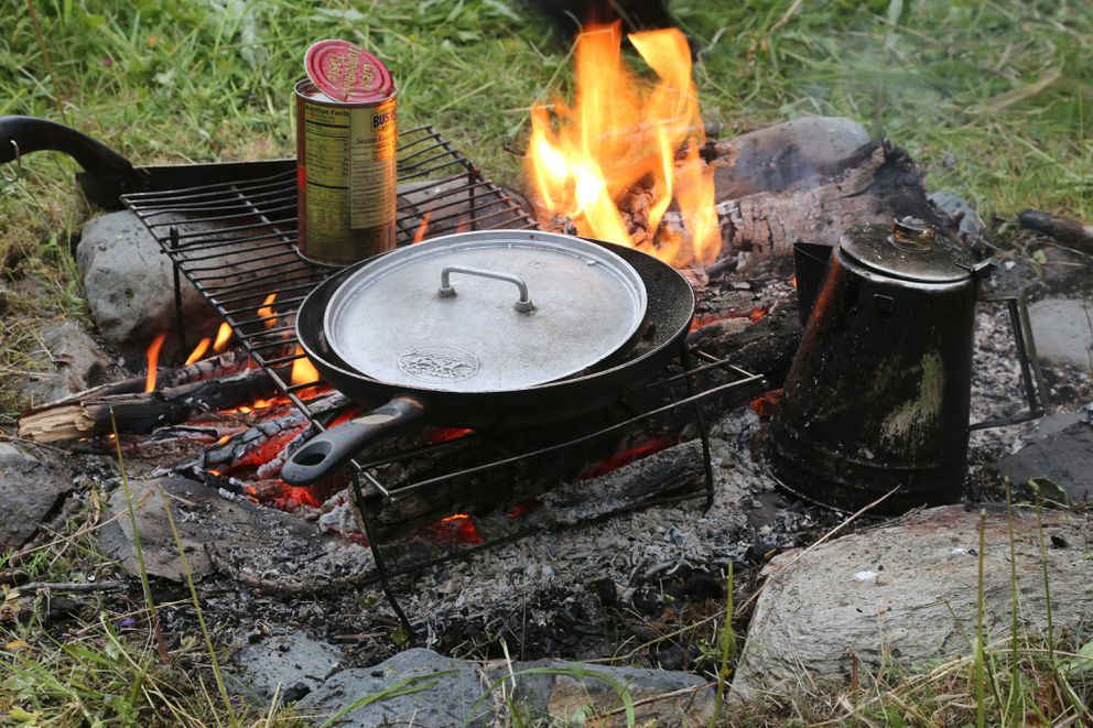 Some people prefer the low-tech version of a stove - a campfire. (Photo by Steve Meyer)