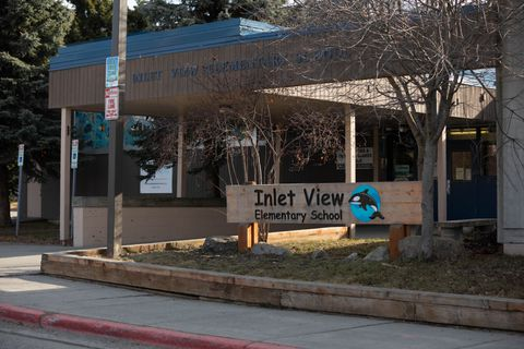 Inlet View Elementary School, Tuesday, April 17, 2018. (Loren Holmes / ADN)