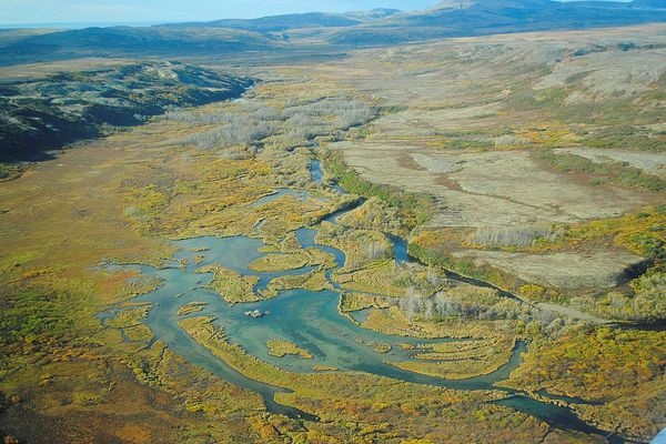 FILE PHOTO: The Upper Tularik Floodplain in the Bristol Bay watershed in Alaska is seen in an undated handout picture provided by the Environmental Protection Agency (EPA). Large-scale mining in the Bristol Bay watershed poses serious risks to salmon and native cultures in this pristine corner of southwest Alaska, the U.S. Environmental Protection Agency said in a report. Environmental Protection Agency/Handout via REUTERS/File Photo ATTENTION EDITORS - THIS IMAGE WAS PROVIDED BY A THIRD PARTY.
