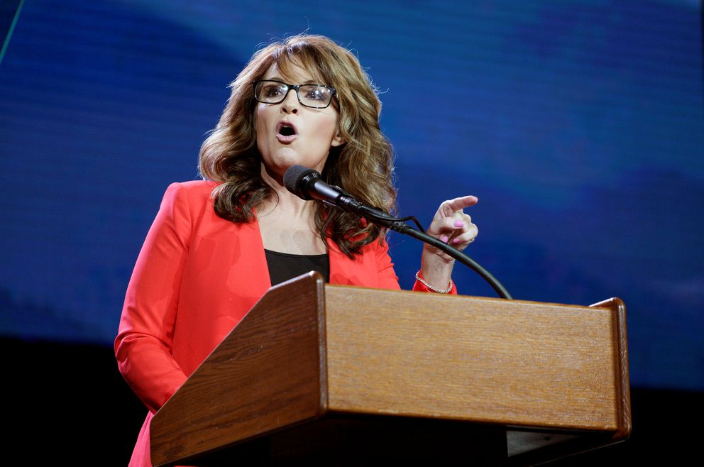 Sarah Palin speaks at the Western Conservative Summit in Denver on July 1. (Rick Wilking / Reuters)