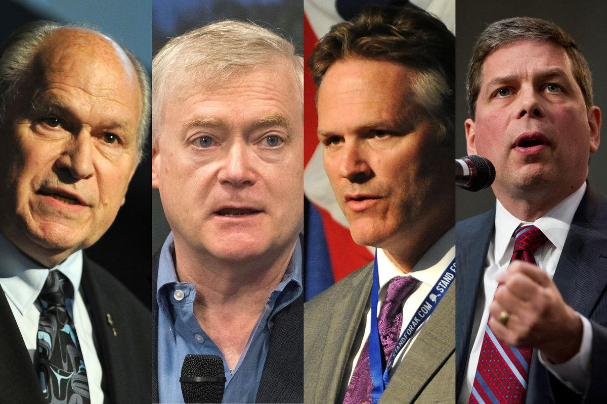 2018 candidates for Governor, Bill Walker, Mead Treadwell, Mike Dunleavy, Mark Begich.