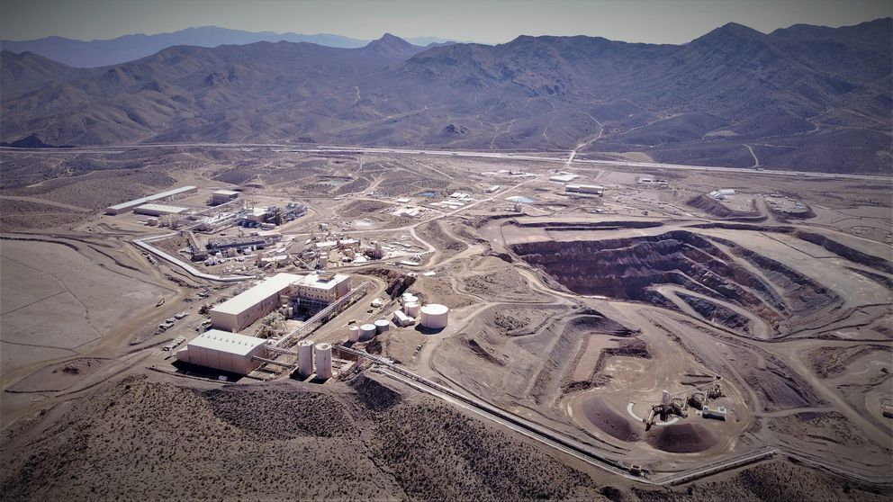 This undated photo provided by JHL Capital Group LLC shows the Mountain Pass Mine in San Bernardino County, Calif. the only producer of rare earth minerals in the United States. (JHL Capital Group LLC. via AP)