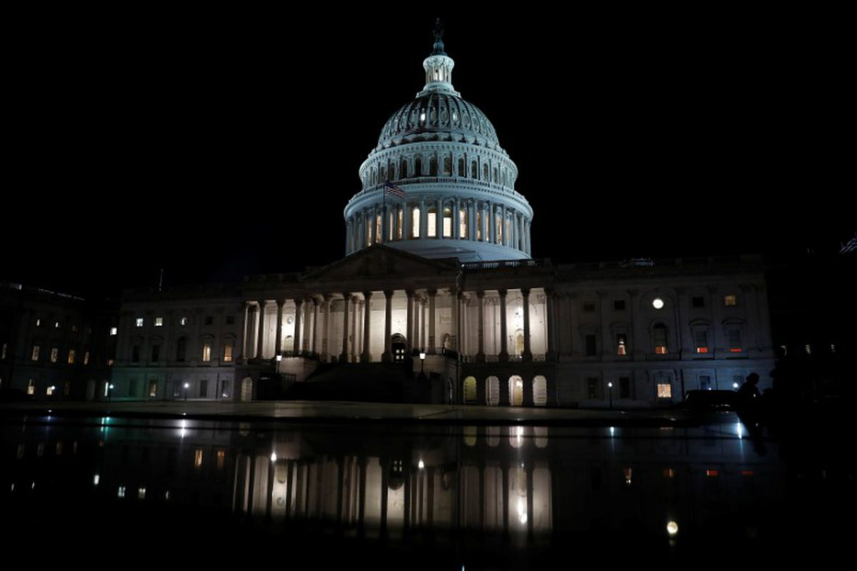 The U.S. Capitol is seen at night on Capitol Hill in Washington. (Aaron P. Bernstein / Reuters file)
